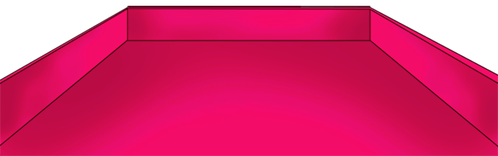 St Valentine's pink tray