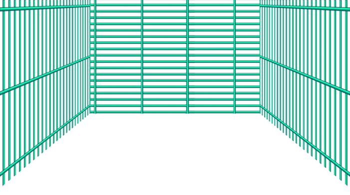 Turquoise grid