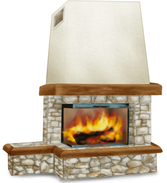 Fireplace Interior Chalet