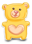 Birthday candy bear