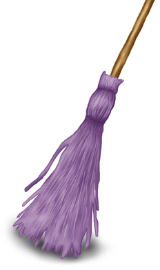 Halloween broom