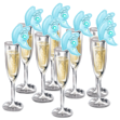 Champagne Glasses Wedding Cake
