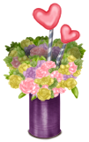 Vase Flowers and Hearts Dance Track