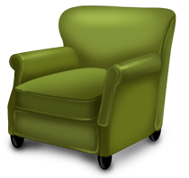 Christmas armchair
