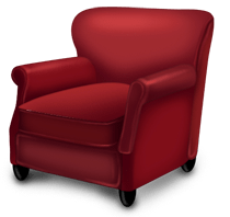 Christmas armchair