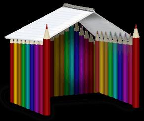 Pencil hut