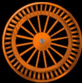 Orange background wheel