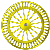 Yellow background wheel