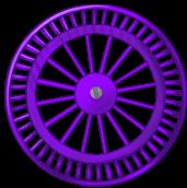 Violet background wheel