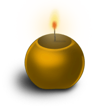 Round candle