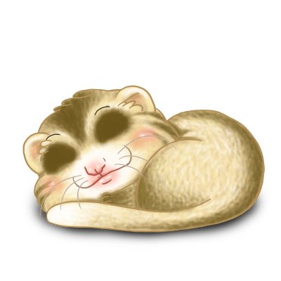 Adopt a Striped beige Ferret