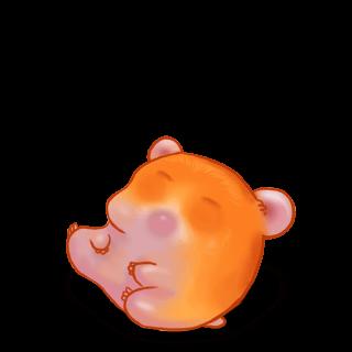 Adopt a Hamster Pumpkin Hamster