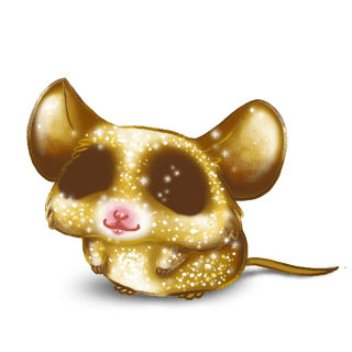 Adopt a Golden glitter Mouse