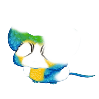 Adopt a Blue macaw Mouse